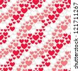 Seamless pattern with hearts. Valentines Day background - stock vector