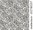 seamless pattern with spiral curls. vector stylish texture - stock vector