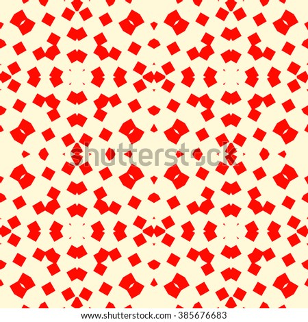 Seamless pattern with symmetric geometric ornament. Mosaic abstract background. Elements repeated wallpaper. Vector illustration