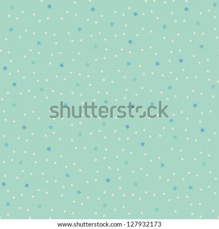 Seamless pattern with tiny stars on retro texture. Vector background.
