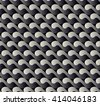 seamless pattern with waves yin yang black white EPS10 vector - stock vector
