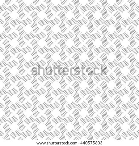 Seamless pattern with with twisted elements. Vector repeating texture. Stylish background.
