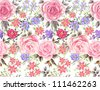 seamless roses pattern, romantic floral ,flowers pattern - stock vector
