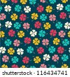Seamless stylish color clover pattern. Vector illustration - stock vector