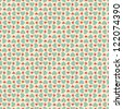 Seamless stylish pattern with hearts. Vector illustration - stock vector