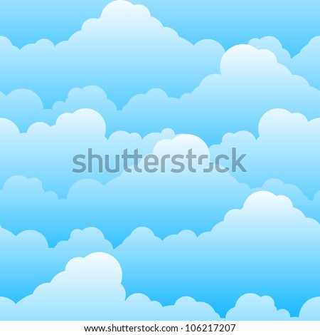 Seamless texture of beautiful clouds. Illustration for design