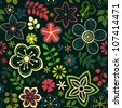 Seamless texture with flowers and birds. Endless floral pattern.Seamless pattern can be used for wallpaper, pattern fills, web page background,surface textures. EPS10 background - stock vector