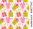 Seamless texture with presents. Vector illustration - stock vector