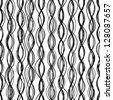 Seamless thread pattern. Monochrome texture. EPS 8 vector illustration. - stock vector