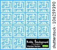 Seamless tile-able vector pattern made from 'Eid Mubarak' (translation : Blessed festival) arabic kufic murabba' square calligraphy style. Eid Mubarak is commonly used during Eid Fitr and Eid Adha - stock vector