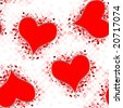 Seamless tileable valentine pattern - stock vector