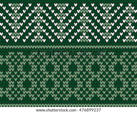 Seamless Traditional Knitting Motif