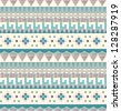 Seamless tribal pattern in pastel tints - stock vector