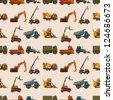 seamless truck pattern,cartoon vector illustration - stock