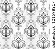 Seamless vector background. Vintage ornate damask  pattern. Easily edit the colors. - stock vector