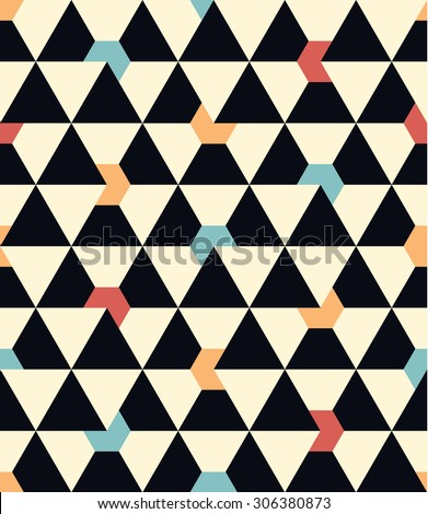 Seamless vector geometric pattern background