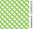 Seamless vector pattern background of overlapping green squares over white - stock photo