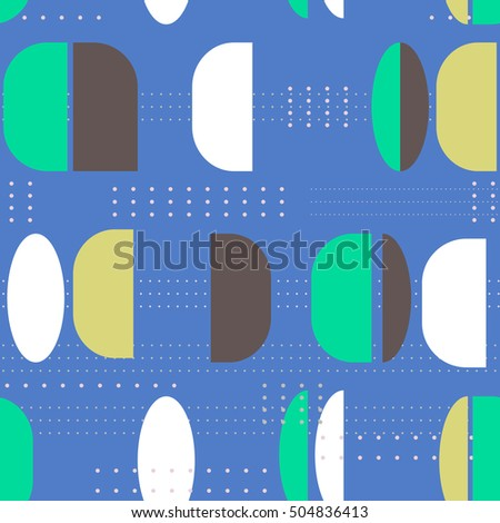 Seamless vector pattern. Geometric pattern vintage multicolored background.