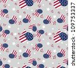 Seamless vector pattern Memorial Day  texture pattern with the colors of the American flag - stock vector