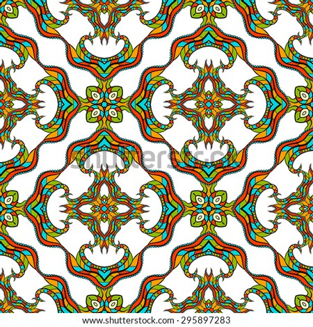Seamless vector pattern. Vintage decorative elements. Hand drawn background.