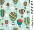 Seamless vector pattern with bright baloons - stock vector