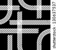 Seamless wallpaper winter tire tracks pattern illustration vector background - stock vector
