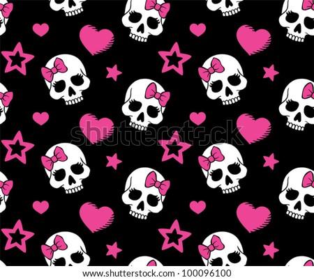 httpthumb10  Hearts And Skulls Wallpaper