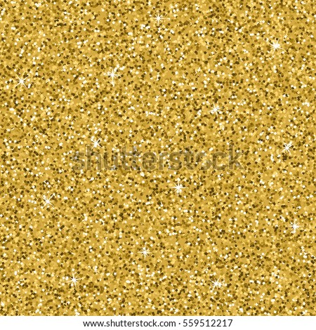 Seamless yellow gold glitter texture. Shimmer background. Vector illustration