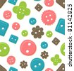 Seamlessly tileable, colorful button pattern - stock vector