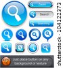 Search blue design elements for website or app. Vector eps10. - stock photo