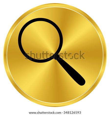 Search - gold vector icon