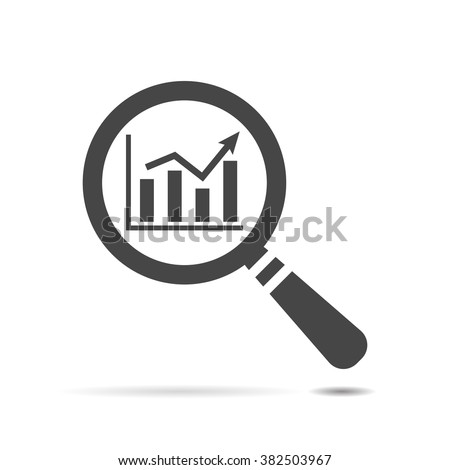 search graph icon flat, search icon design, search icon web, vector magnifying glass