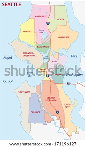 Seattle administrative map