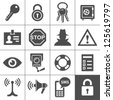 Security and warning icons. Simplus series. Vector Illustration - stock photo