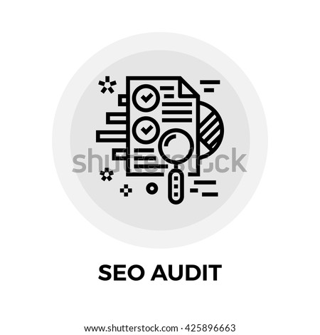 seo audit icon vector flat icon stock vector 419283652 shutterstock. Black Bedroom Furniture Sets. Home Design Ideas