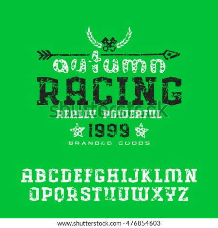 Athletic sport typography tshirt graphics vectors stock for T shirt printing nyc same day