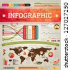Set elements of infographics for design, eps 10 vector illustration - stock vector