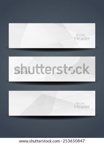 web header abstract header gray black white wave stock vector 434729353