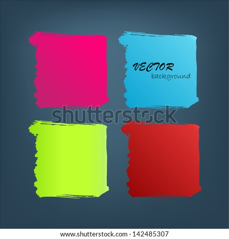 Set of abstract color background. Vector illustration.