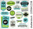 Set of affiliate and referral badges and stickers - stock vector