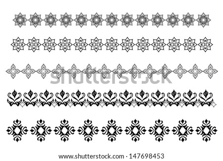Set of arabic ornament for decoration vector