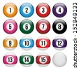 Set of balls for pool - stock