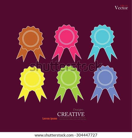 set of banner.ribbon.vector illustration