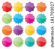 set of blank colorful paper seals. stickers for website. vector. - stock vector