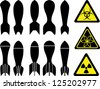 set of bombs - stock vector