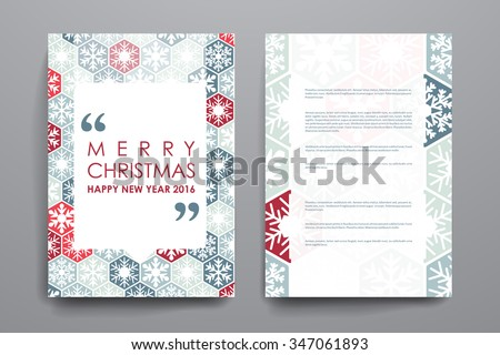 Set of brochure, poster templates in Christmas style. Beautiful design and layout