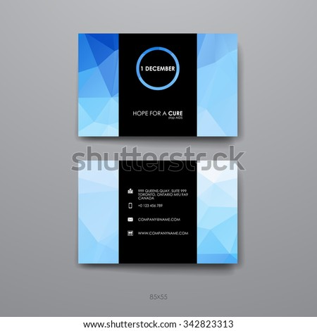 hiv aids brochure templates - vector abstract creative business cards set stock vector