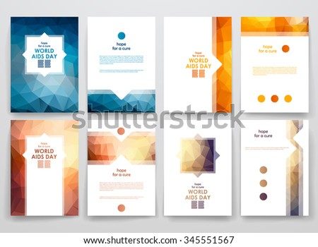 Medical flat infographic stock vector 241300261 shutterstock for Hiv aids brochure templates