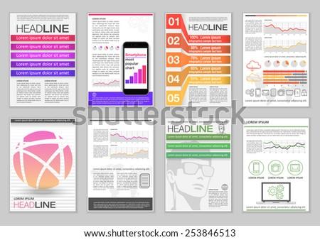 Set Brochure Template Infographic Elements Charts Vector – Marketing Brochure Template