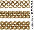 Set of bronze celtic braids - stock vector